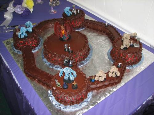 Dungeon Wedding cake with D&D minitures