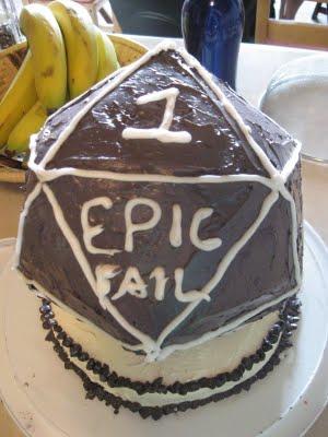 D20 Epic Fail Cake