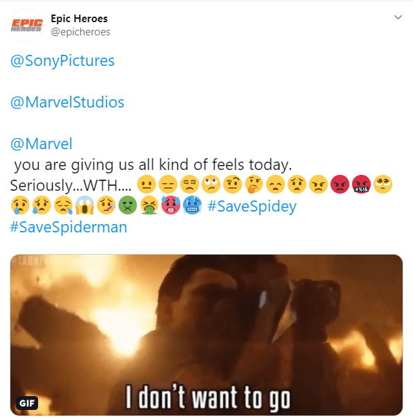 #SaveSpiderMan