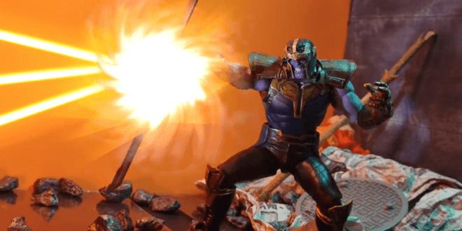 Avengers Endgame Stop Motion Animation - Thanos VS Captain America Final Battle