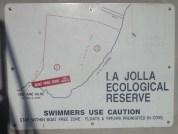 O mapa da piscina. La Cove - Pier ida e volta = 5km.