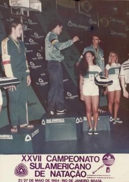 Pódium do Sulamericano, no dia do recorde.