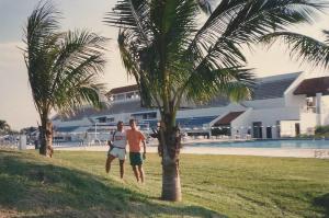 Eu e o Leo dando uma volta para registrar toda a beleza de Mission Bay