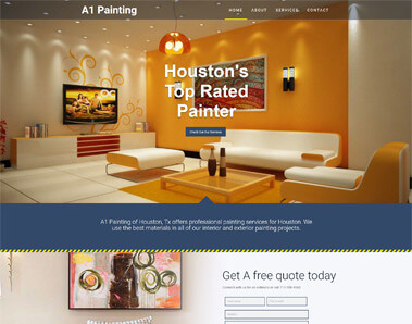 painting company website design
