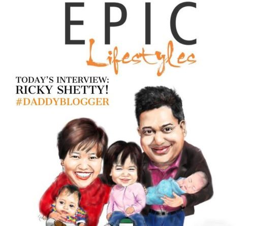 Daddy Blogger Ricky Shetty on building a laptop lifestyle with a family of 5