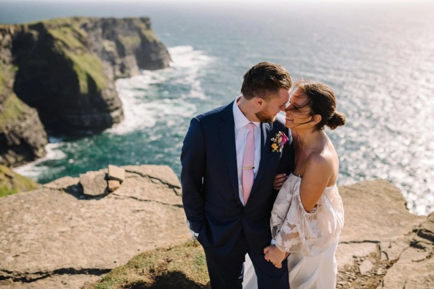 Elopement on the Cliffs Of Moher 1