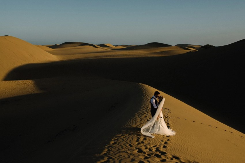 Maspalomas sand dunes wedding photography Gran Canaria