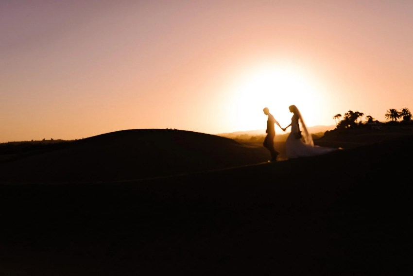 Gran Canaria wedding photographer desert portraits silhouette