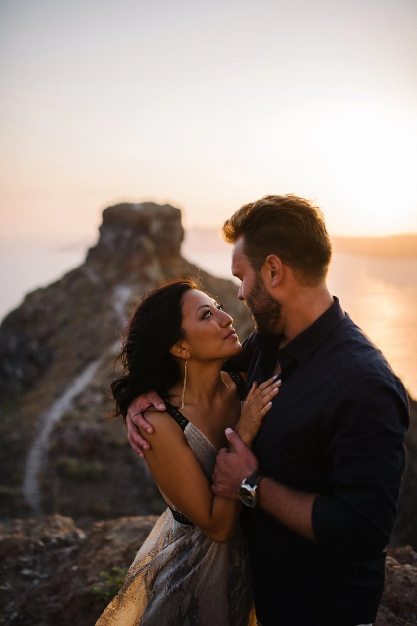 Santorini engagement photography Santorini Destination wedding