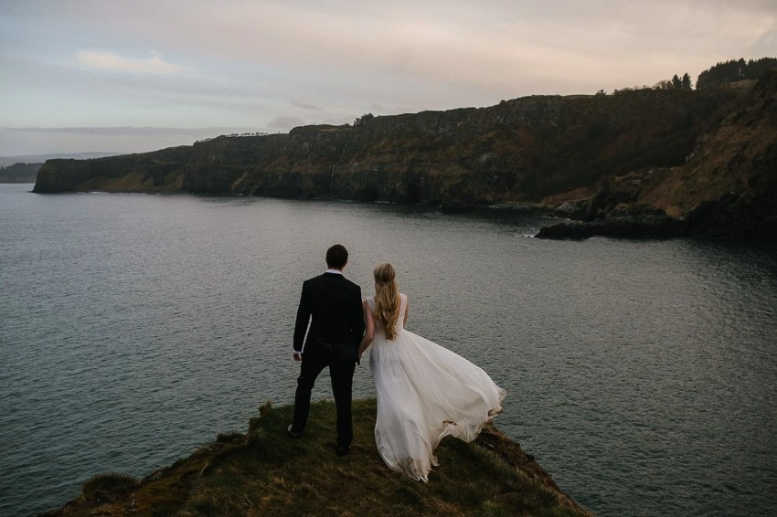 Northern Ireland Adventure elopements Dunluce castle