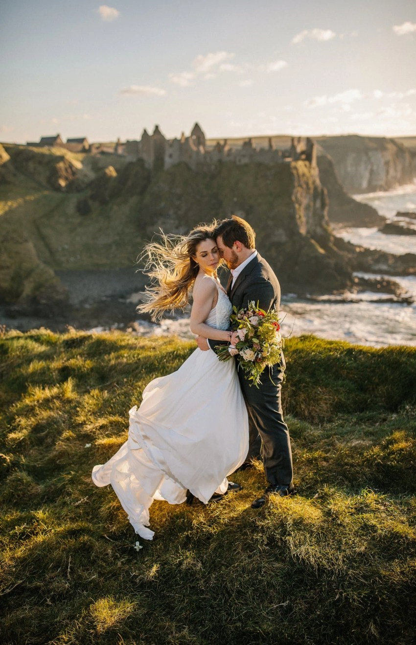 best places to elope in Ireland . The best places to elope in Ireland, Irish elopements. Northern Ireland elopement. Dunluce Castle, Co Antrim, Northern Ireland
