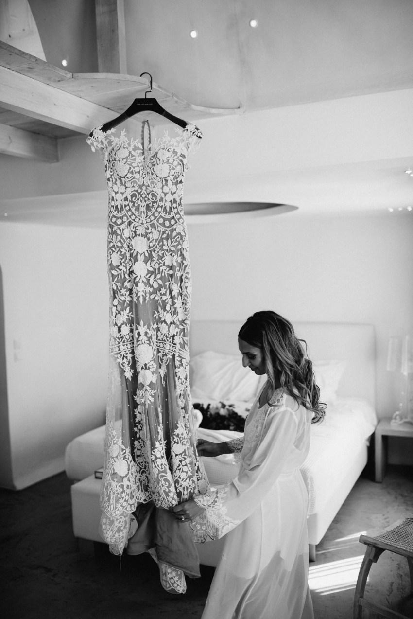 Steven Khalil Dress Santorini Destination wedding