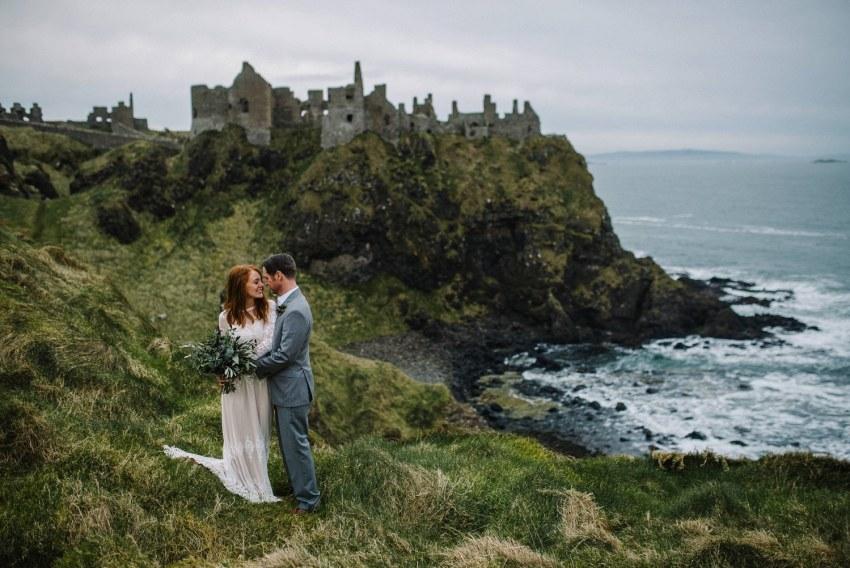 Dunluce Castle Elopements Northern Ireland Irish elopement_0066.jpg