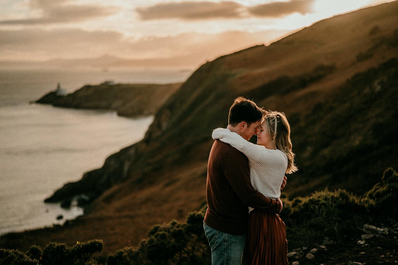 Ben amp Logan Howth Cliffs Engagement Session in Ireland