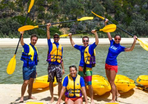 school kayaking