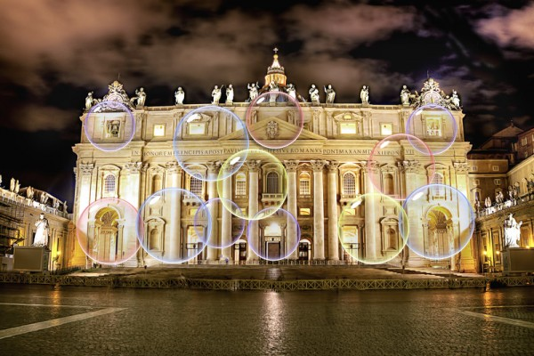 Vatican To Project Microsoft Bubbles Screensaver Onto St. Peter's Whenever Basilica Not In Use