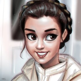 """Leia- Empire Strikes Back"" b DaveJorel https://davejorel.deviantart.com/art/Leia-Empire-Strikes-Back-555257801"