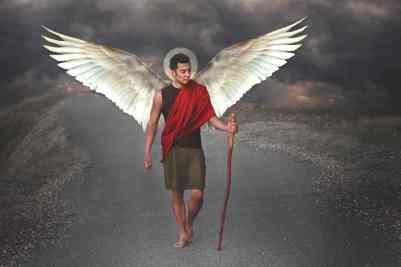 """""""St. Raphael the Archangel"""", Kristyn Brown, www.thesaintsproject.org"""