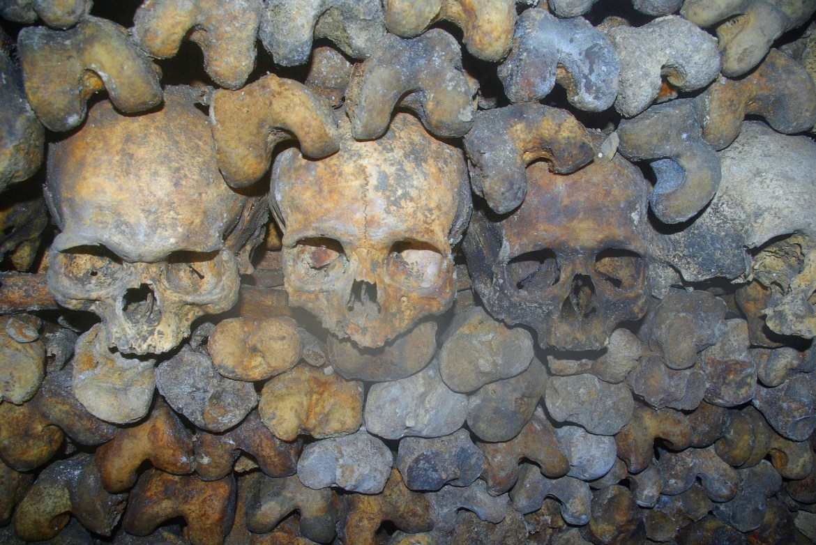 Who or what created the elaborate crypts in the catacombs?