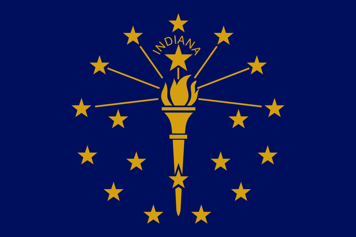 Who is the patron saint of Indiana?