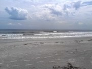 Beach - Amelia Island ; waves & clouds.