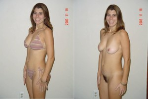 girlfriend dressed undressed