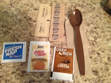 Utensil package contents.