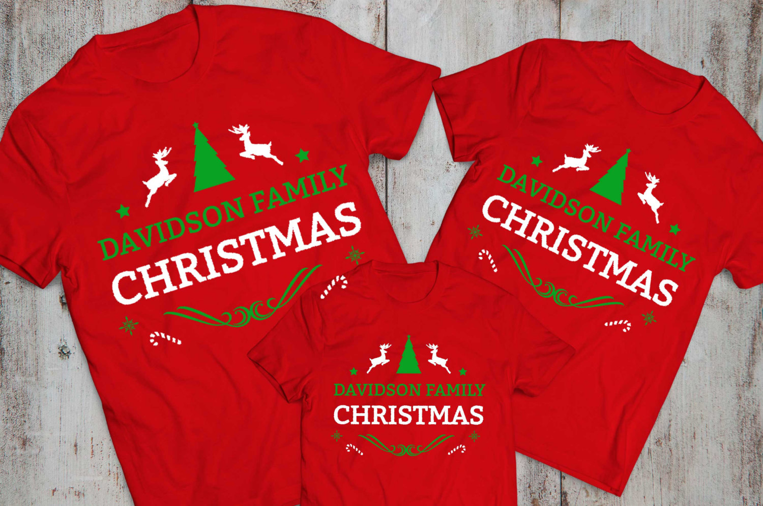 CUSTOM Name Matching Family Christmas Shirts Awesome