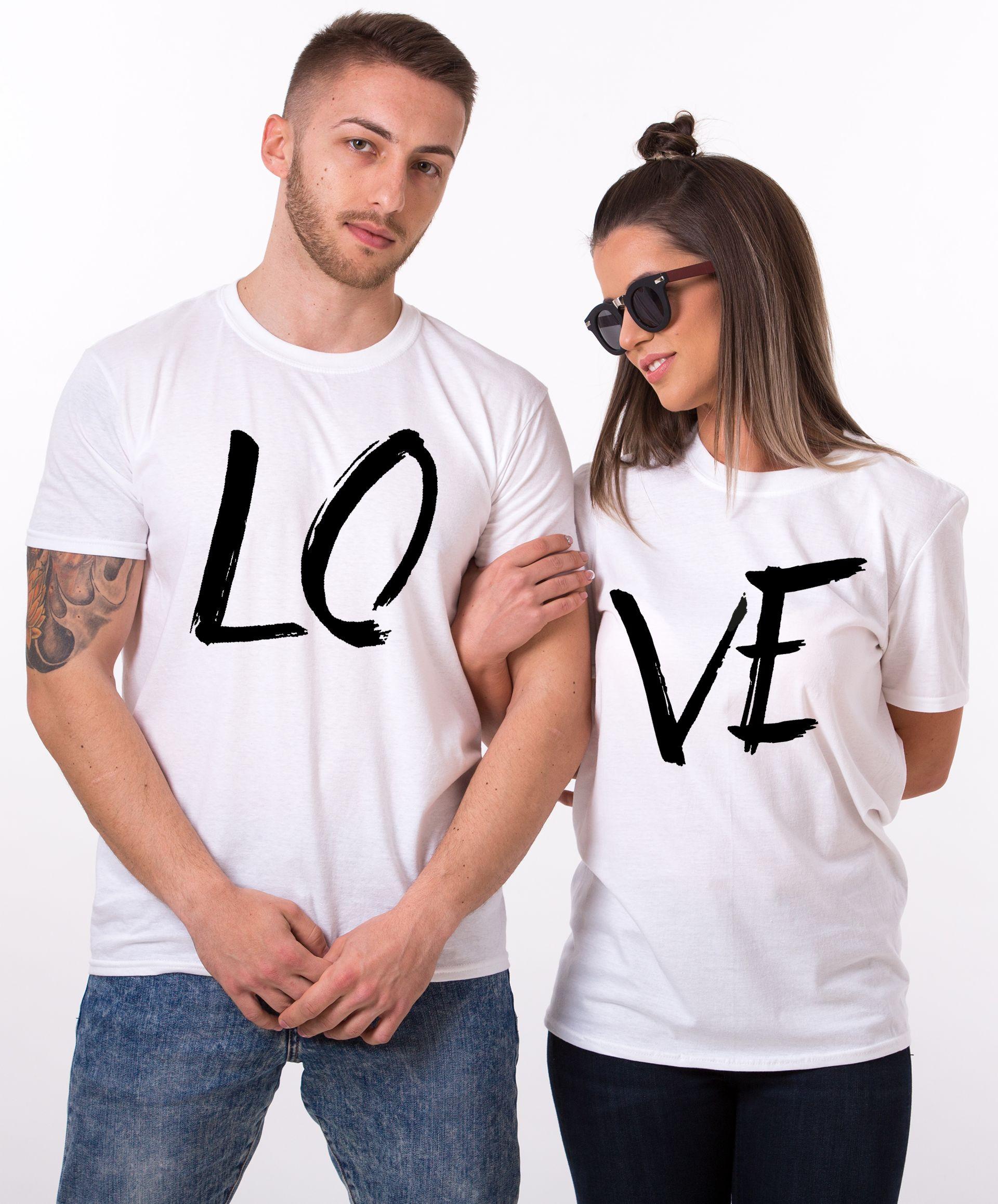 LOVE Couples Shirts Matching Couples Shirt Unisex