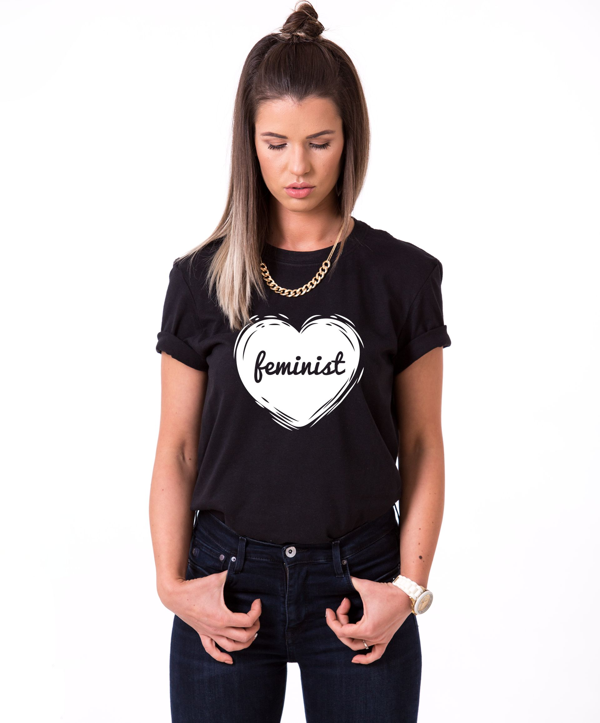 Feminist Shirt Feminism Heart Shirt Womans Rights Shirt