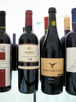 Bottles of Roero