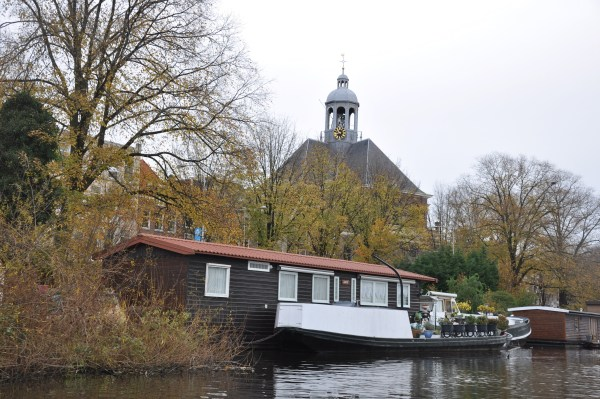 Houseboats are scattered everywhere on the Amsterdam canals.