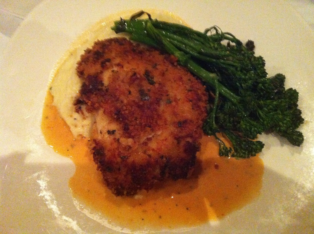 Parmesan Crusted Sanibel Chicken from Tommy Bahama.