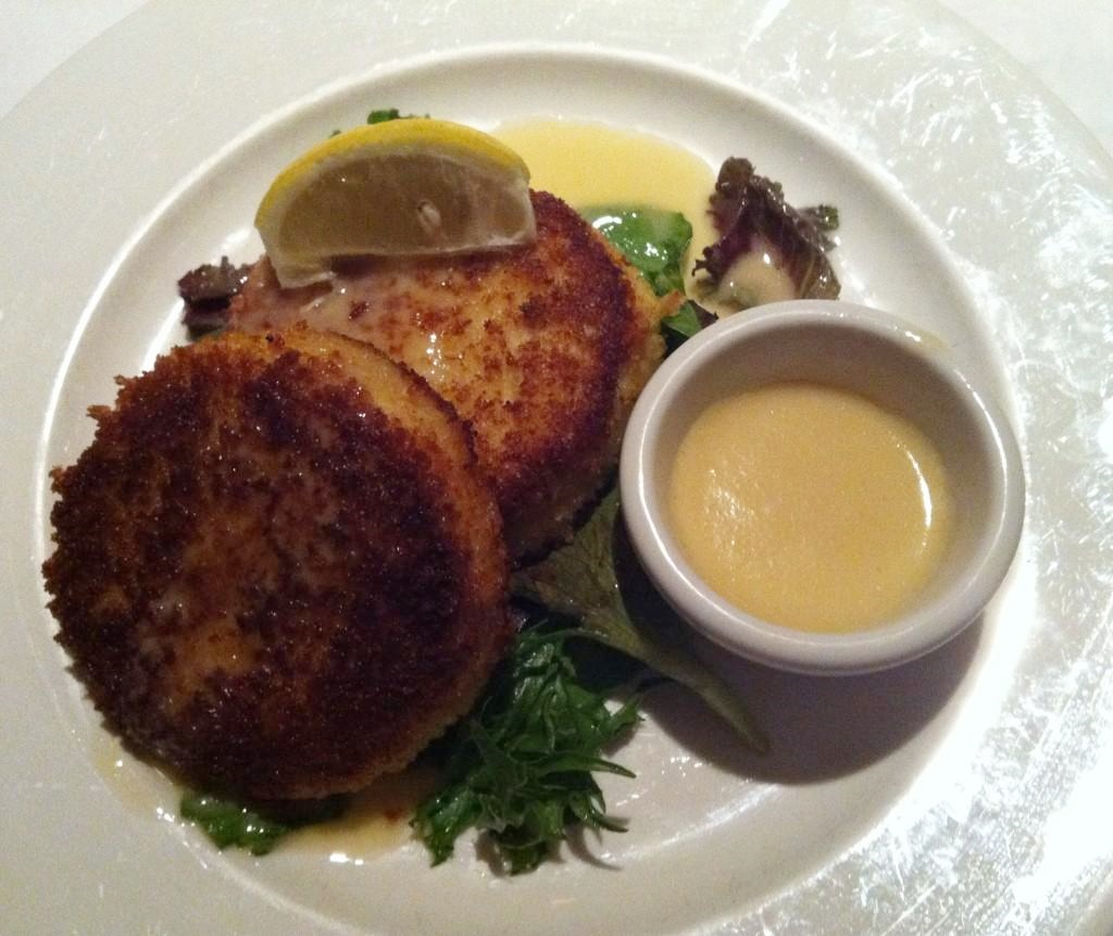 Crab Cakes at Bud and Alley's.