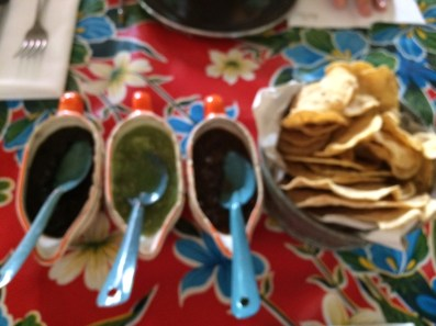 Chips and salsas!