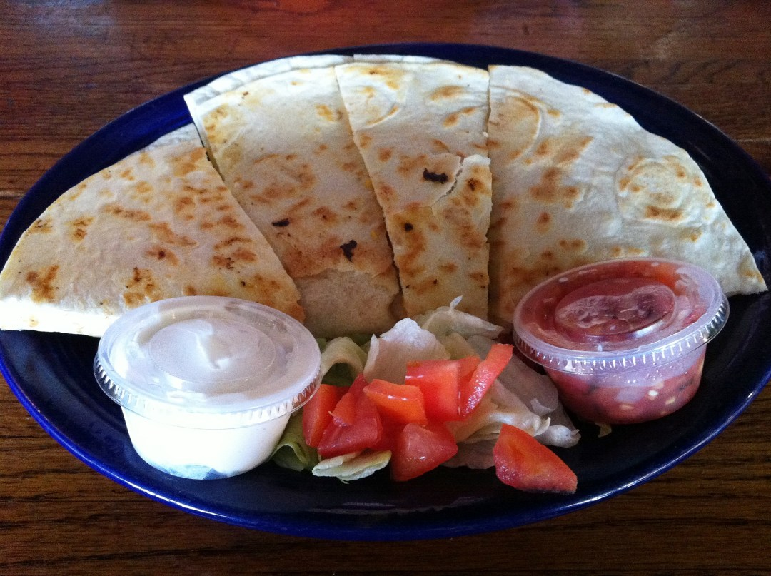 Grilled Shrimp Quesadilla at Spanky's