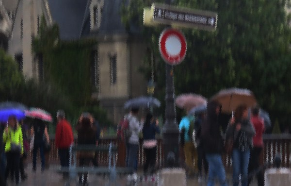 Paris rain, photo by Linda Sanford
