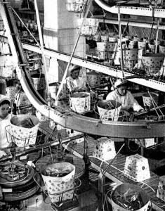Alemagna's assembly line