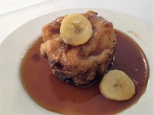 Bread pudding with bananas