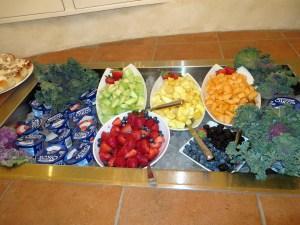 Fresh fruit on the breakfast buffet.