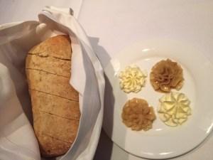 Rosemary ciabatta bread with sugar cane honey butter.