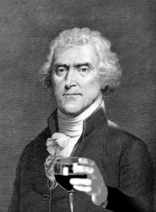 Thomas Jefferson with wine glass