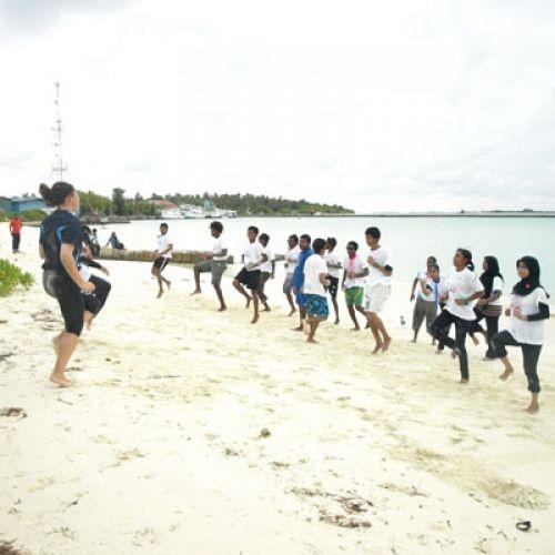 Teach aerobics in Maldives