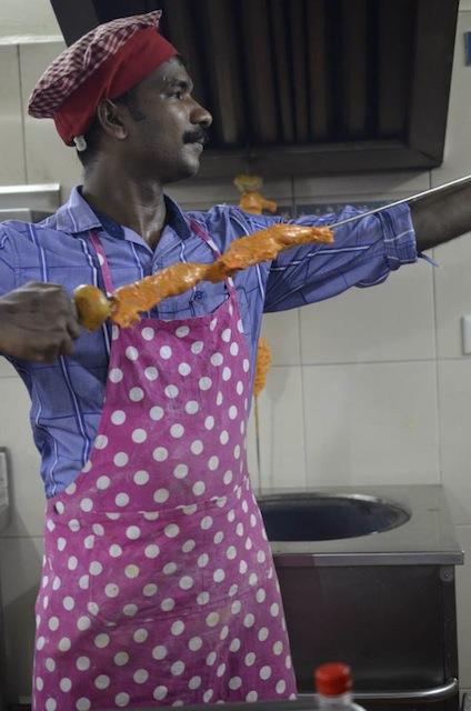 Tandoori chicken demonstration