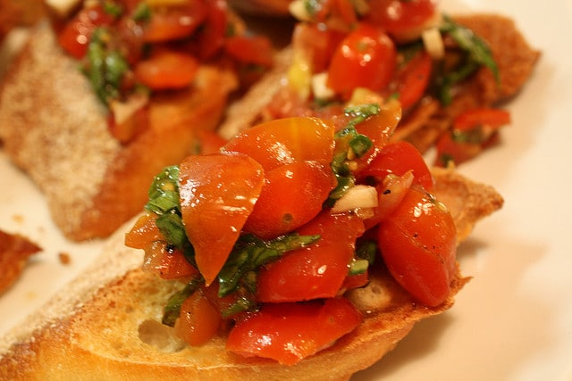 Mouth watering Bruschetta.  Photo courtesy of Michael Spencer
