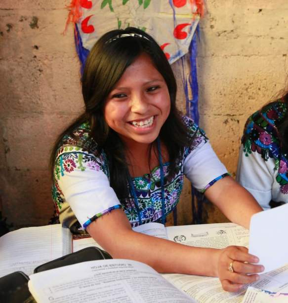 A young female student in Guatemala is part of a UN program that helps get an education, see a doctor, and stay safe from violence.