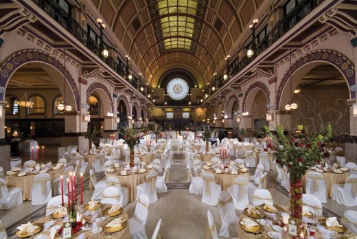 Grand Hall at Crowne Plaza Downtown Indianapolis. Photo courtesy of Crown Plaza.