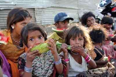 Children begging in India