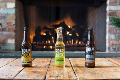 Fireplace at Bold Rock Cider. Photo courtesy of Bold Rock.