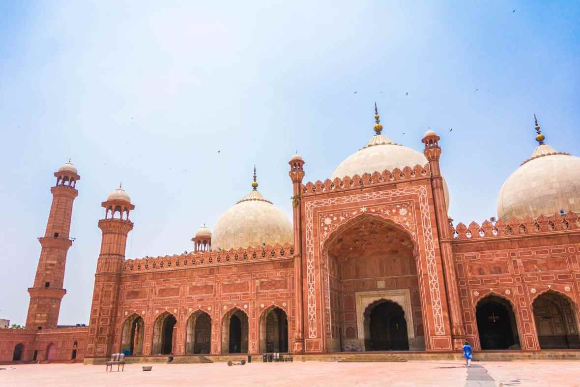 Islamic Culture at the Badshahi Mosque in Pakistan